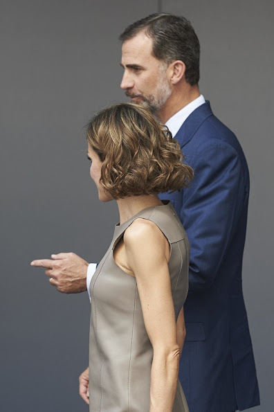 King Felipe of Spain and Queen Letizia of Spain attend Telecinco TV Channel in its 25th anniversary