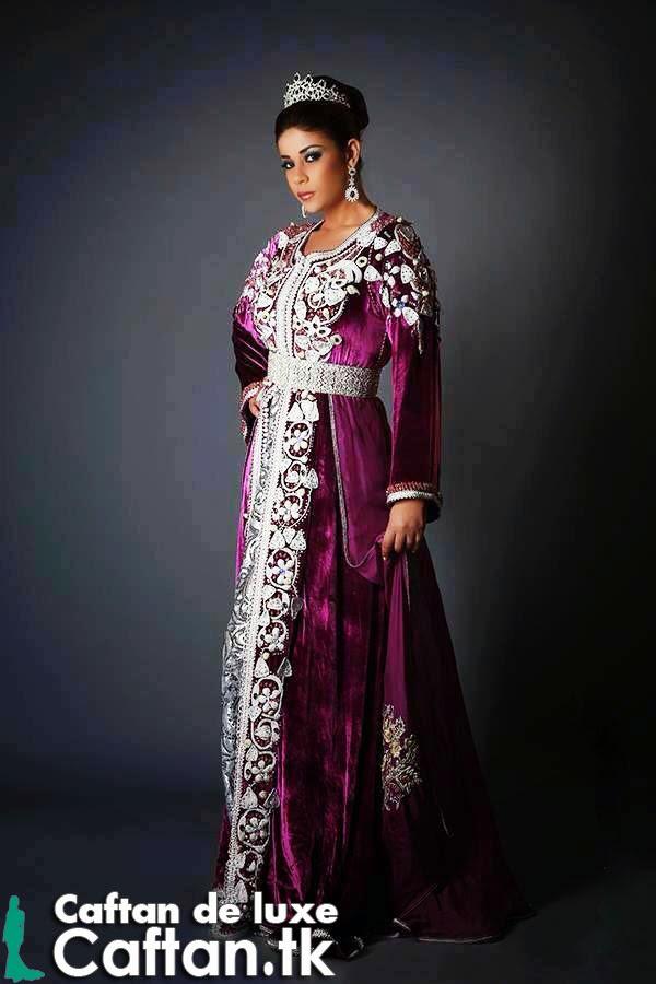 Caftan marocain mauve élégance 2014