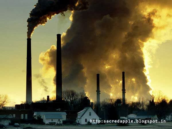 carbon dioxide emission from factories