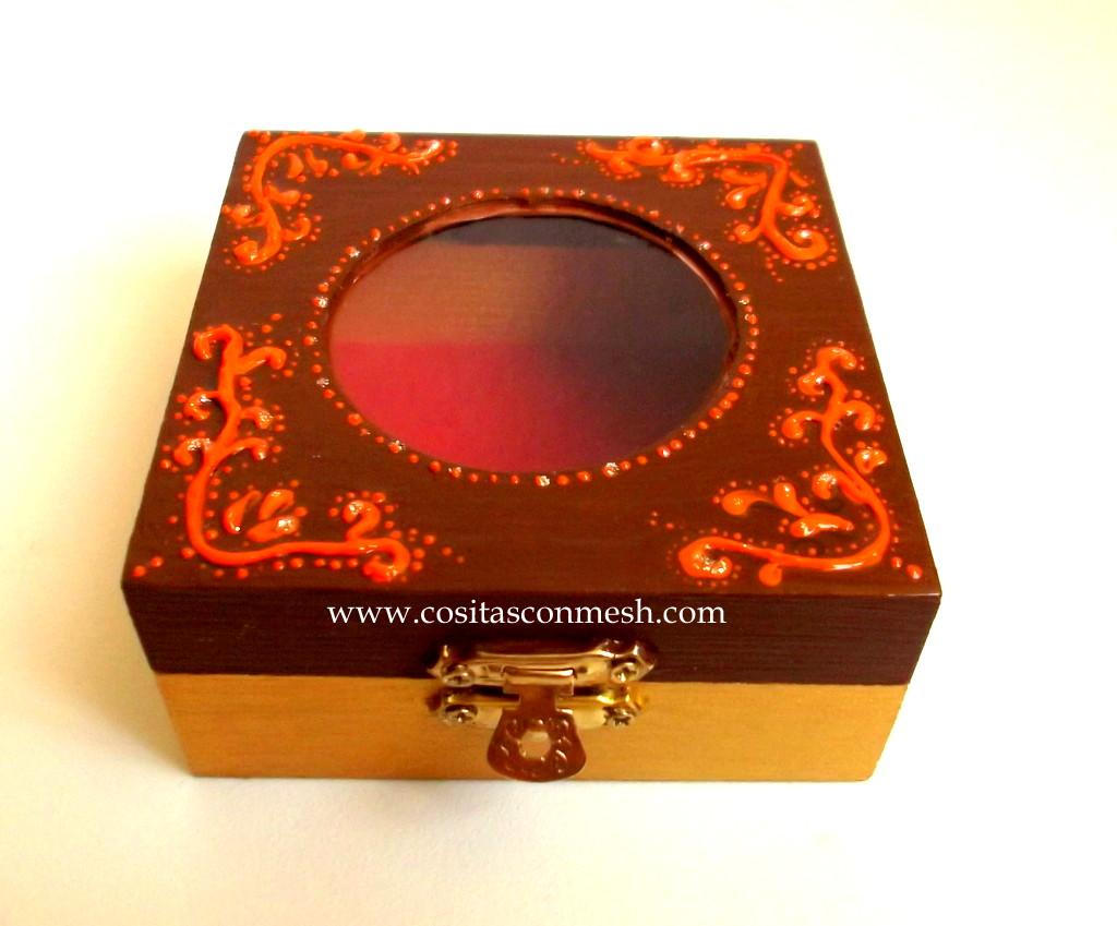 Como pintar y decorar una caja de madera cositasconmesh - Madera para pintar ...