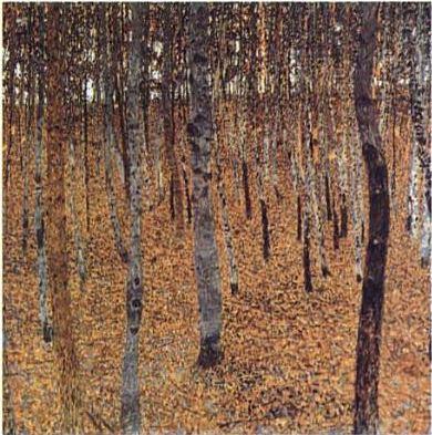 Beech Forest by Gustav Klimt Vienna 1902