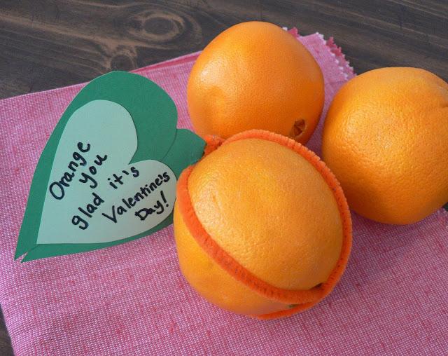 Healthy Valentine Treats, fruit valentine, orange valentine