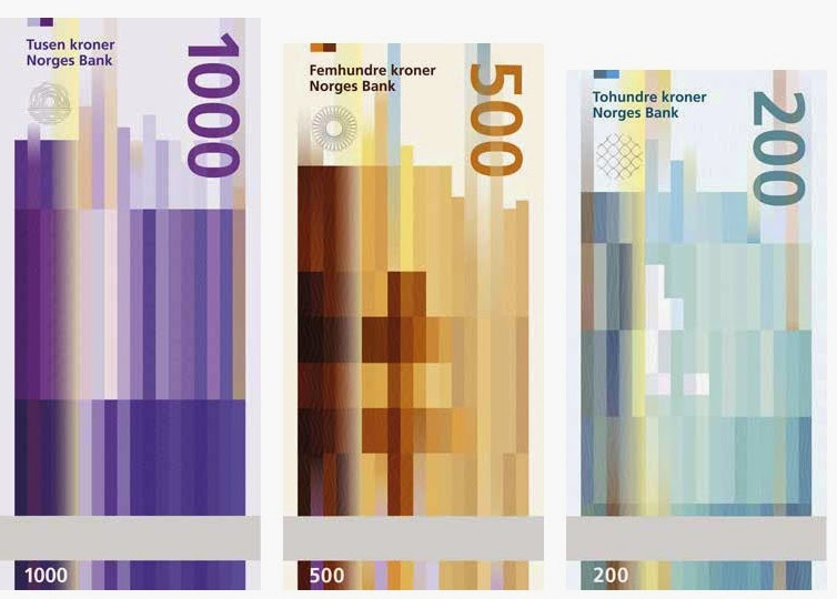 Norway Pixelated Currency of Norway's Paper Currency