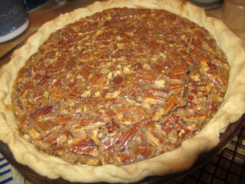 "Derby"" Pie or Pecan-Chocolate-Bourbon Pie. Can you say decadent?"