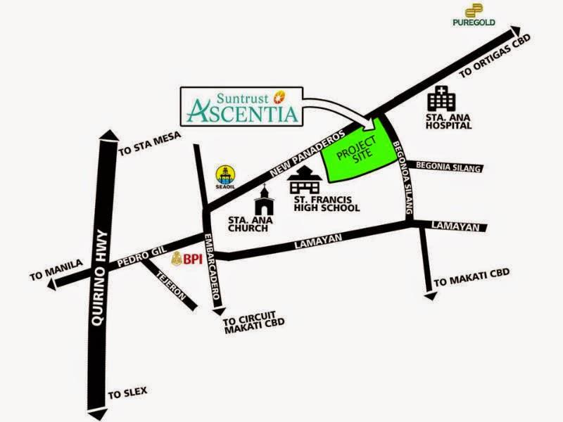 Ascentia Condominiums Site Map Area