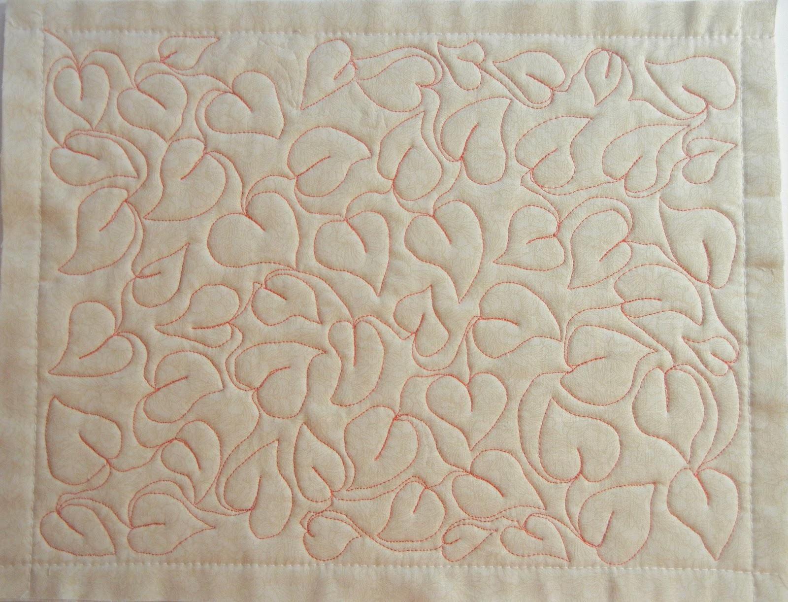 Free Motion Quilting Patterns Leaves : Joanie s Trendy Quilts : Free Motion Quilting Challenge & Heart Quilt Has Borders!