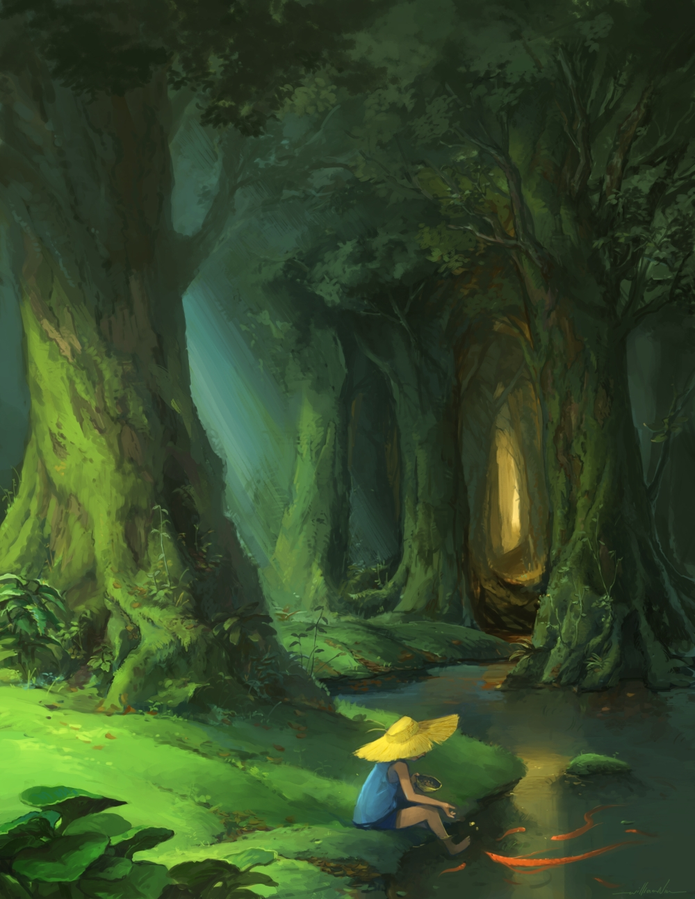 William niu for Forest scene drawing