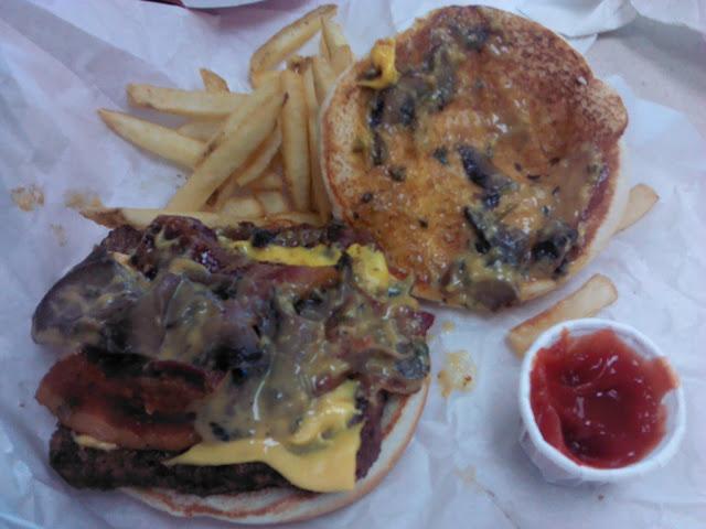 wendy's bacon portabella burger - just say no