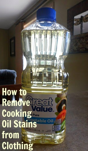 Removing Cooking Oil Stains from Clothes