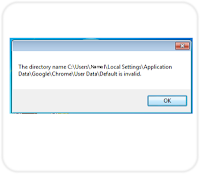 The Directory dialog pop up