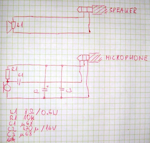 circuit of a simple active sonar that uses a computer to generate signals and analyse them