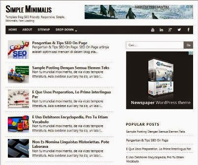 Simple Minimalis - Super SEO Responsive Blogger Template
