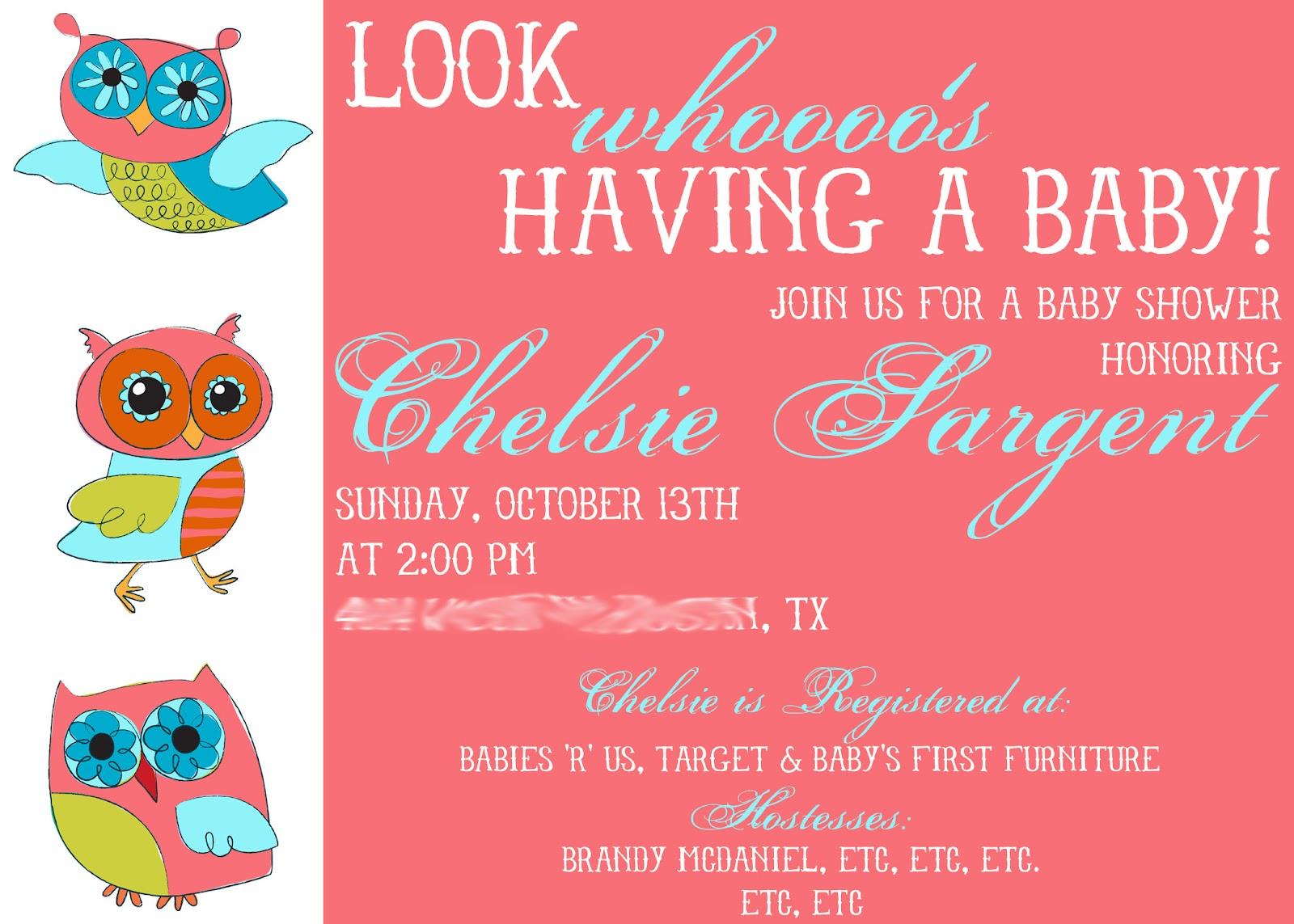 Outstanding Owl Baby Shower Invitations Embellishment - Invitations ...