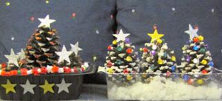 Pinecone christmas tree crafts