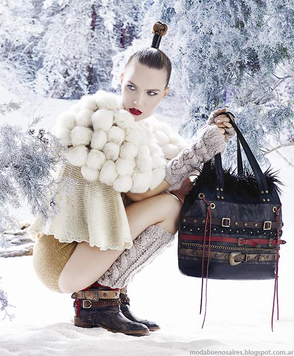 Moda carteras y zapatos Carla Danelli otoño invierno 2014.