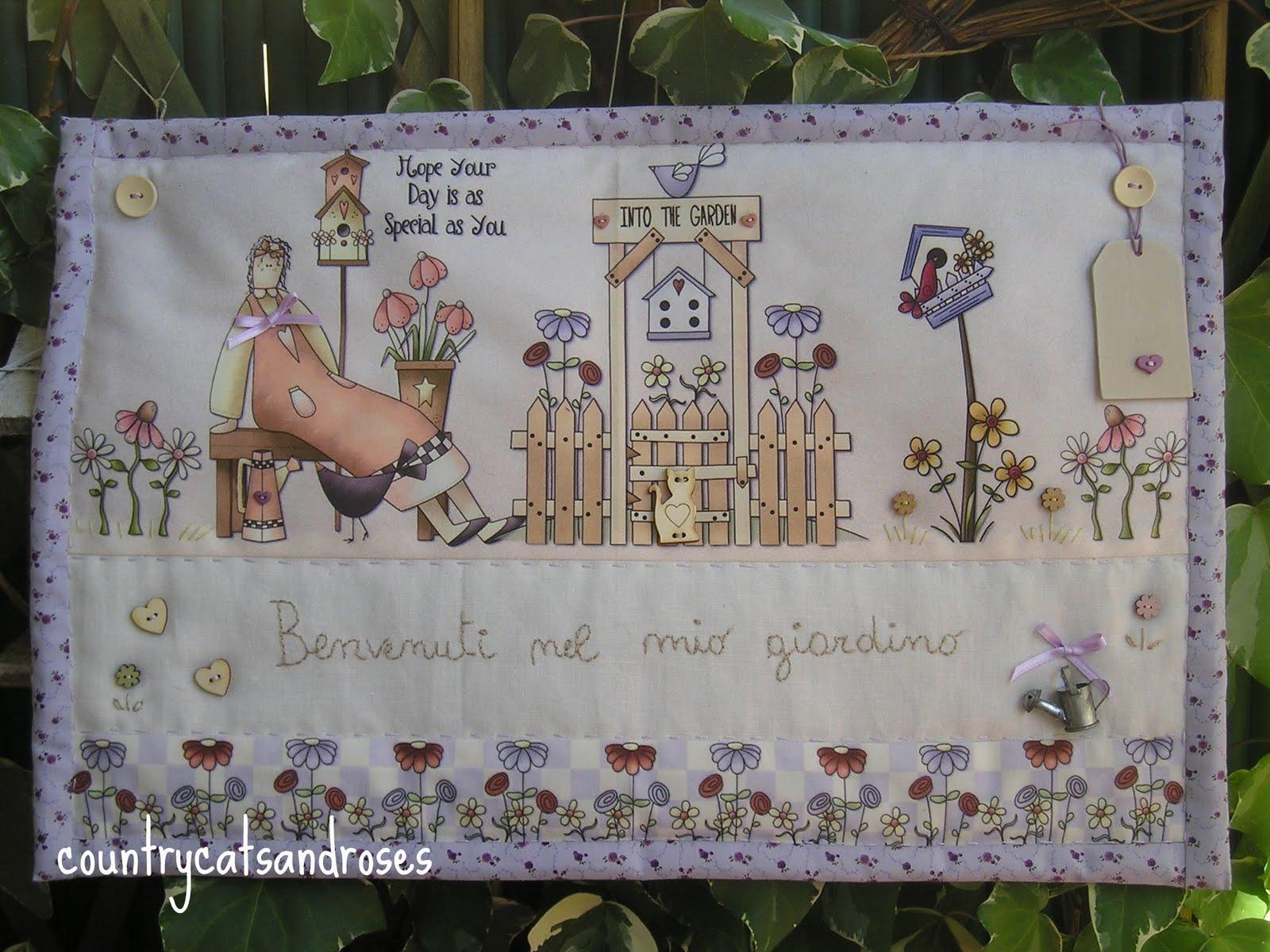 Countrycatsandroses: angeli country per chi ama il giardino.......