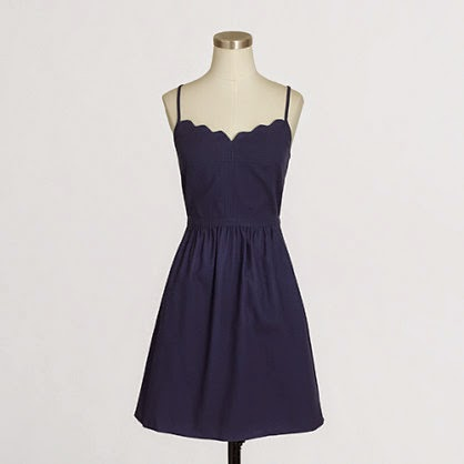 j crew factory scalloped cami dress on sale