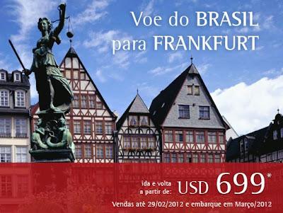 Voos para Frankfurt a partir de R$ 1.200,00 com a TAM