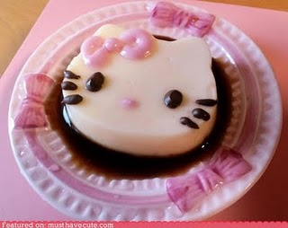 Hello Kitty pudding dessert