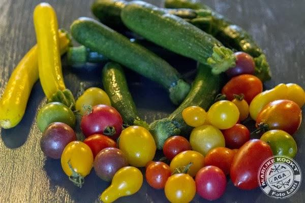 courgette, tomaten