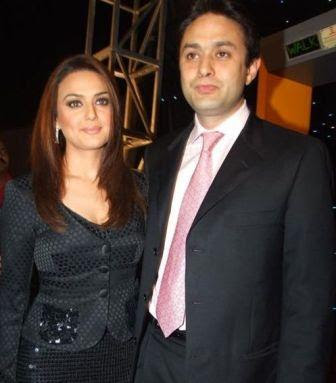 Preity Zinta and Husband