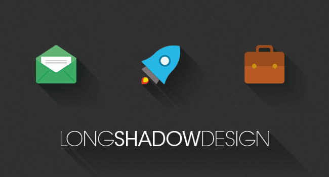long shadow design trend, flat design evolution