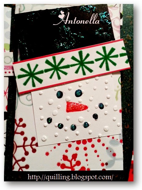 Dashing Snowman Gift Card Holder, super easy and fun to make from Antonella at www.quilling.blogspot.com
