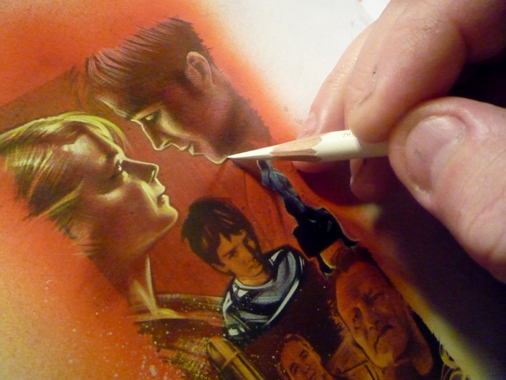 Drive movie, Ryan Gosling, Carey Mulligan, Original Sketch Card © 2012 Jeff Lafferty