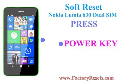 Soft Reset Nokia Lumia 630 Dual SIM