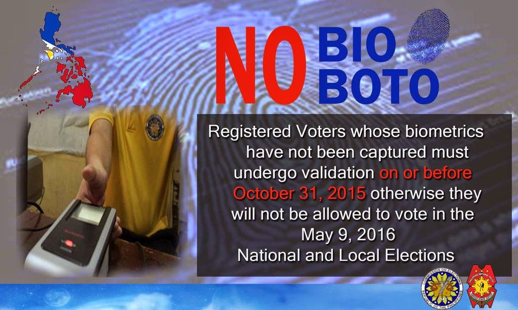 Comelec vows to be even more aggressive in pushing 'No Bio, No Boto' campaign