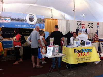 Boat Name Gear at Norwalk Boat Show