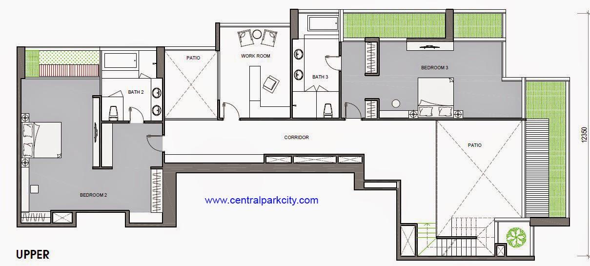 Penthouse Vinhomes Central Park - Căn số 01 tầng 36-37 Upper - 4PN - 456.3m2