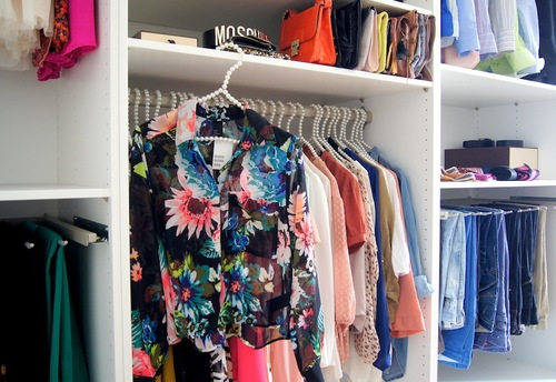 como organizar o closet