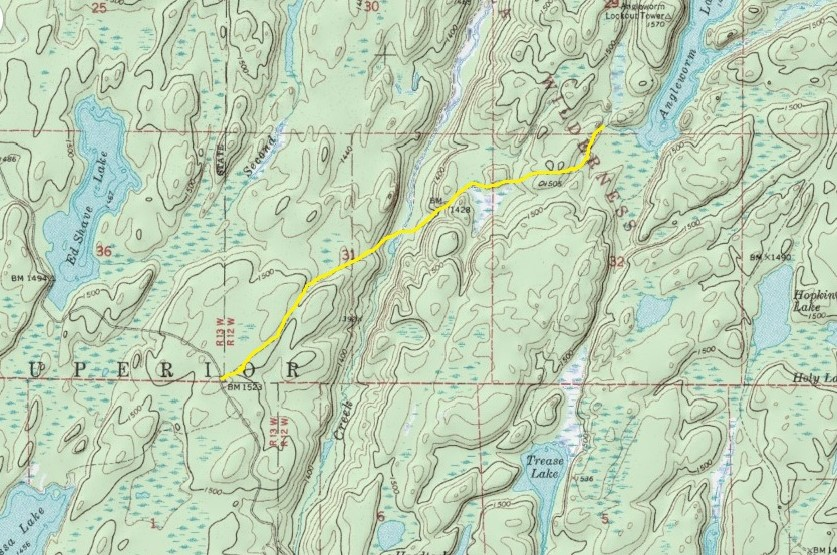 Day Hiking Trails Primitive Trail Heads Into Boundary Waters - Where to get topo maps for hiking