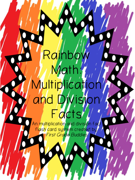 http://www.teacherspayteachers.com/Product/Rainbow-Math-Multiplication-and-Division-Fact-Fluency-A-Flash-Card-System-593952