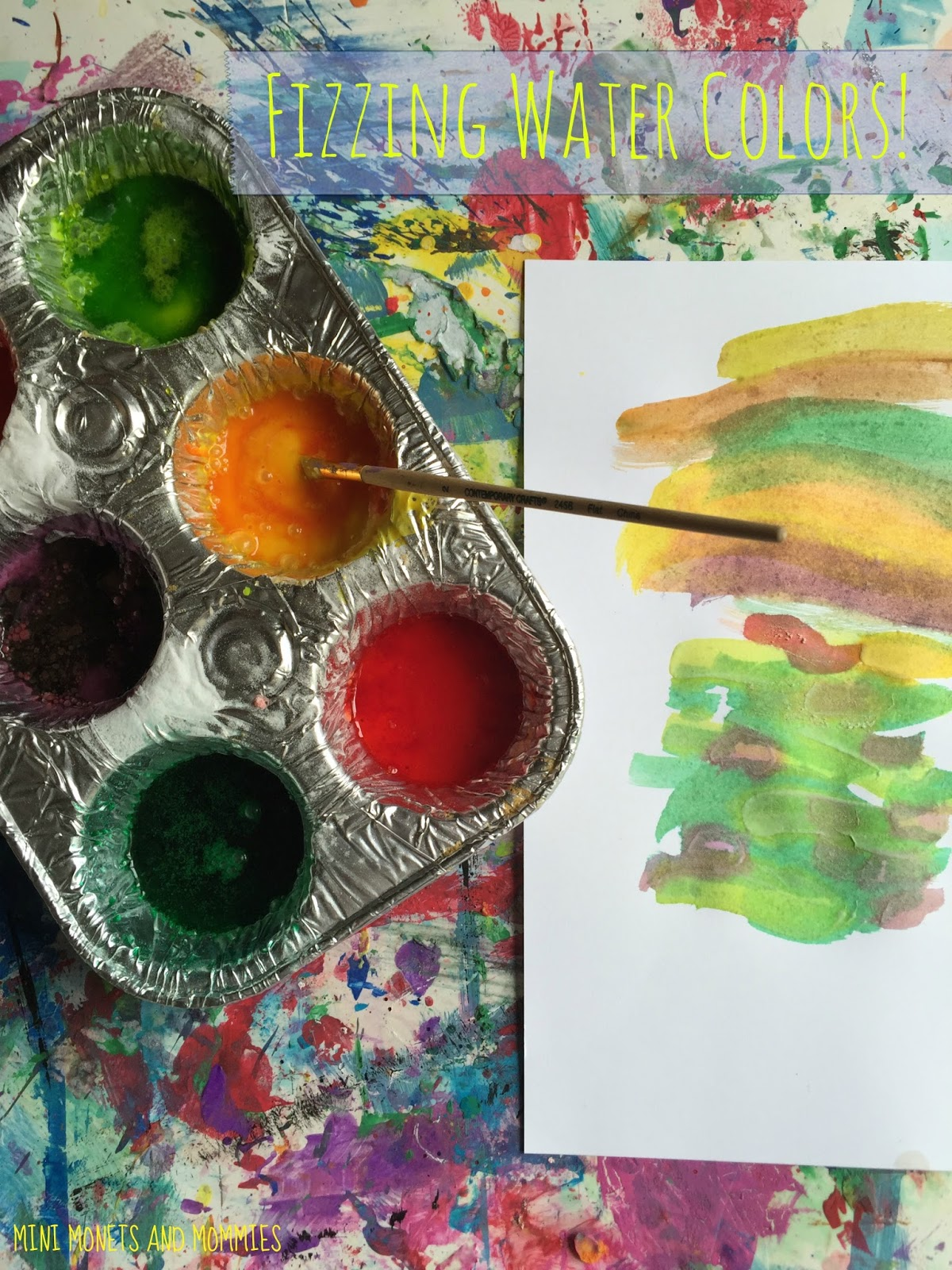 Mini Monets and Mommies Kids Science and Art Fizzing Water Color
