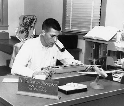 Hunter S. Thompson as a sportswriter for the U.S. Air Force, 1958