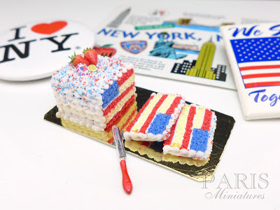Miniature flag cake for 4 July