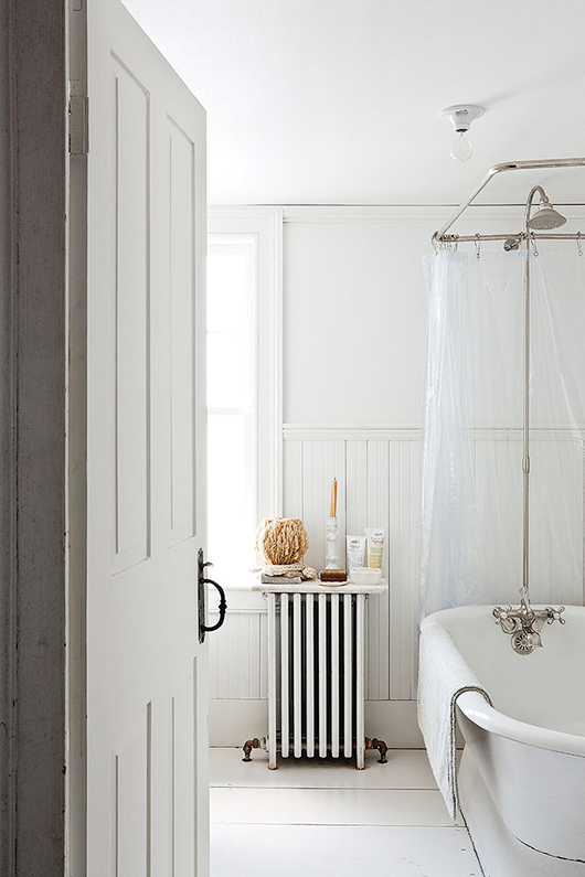 the little house in the city: small space tip: ditch the shower