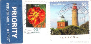 Cape Arkona Lighthouse stamp; Tagetes