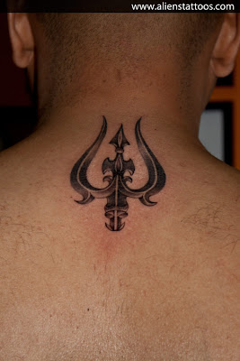 trishul tattoo concept designed and inked by sunny at aliens tattoo mumbai aliens tattoo. Black Bedroom Furniture Sets. Home Design Ideas