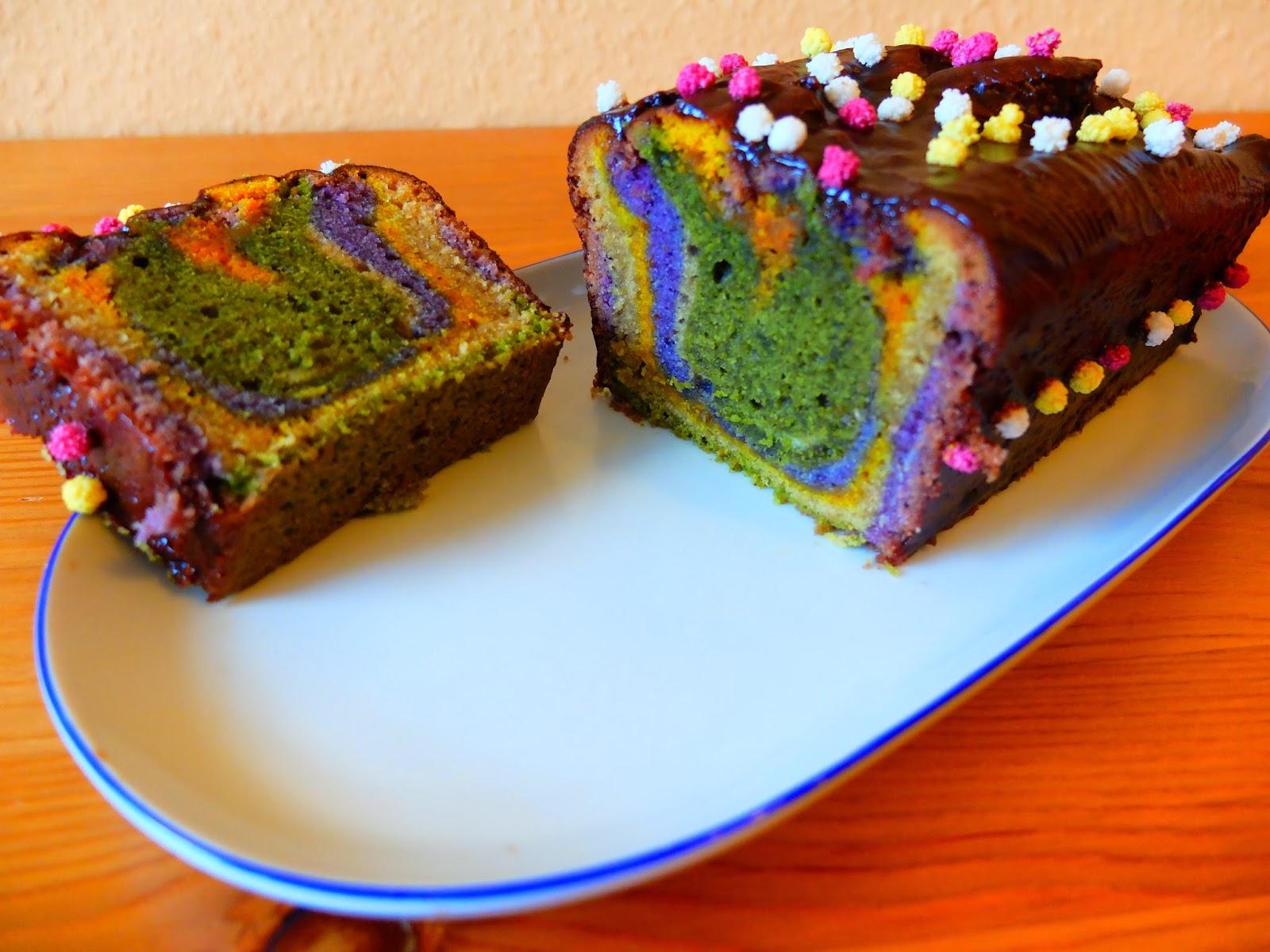 Veganer Regenbogenkuchen