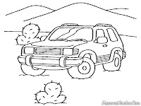 Gambar Mobil Jeep Digurun Pasir