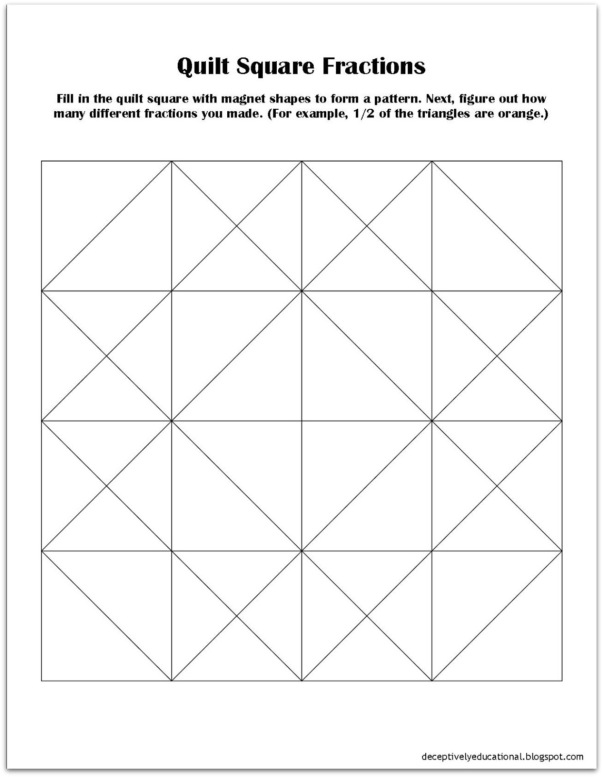 Paper Quilt Square Template Cafca Info For