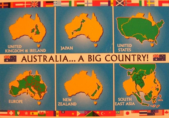 TRENTHAM TALES The Size Of Things - Map asia us uk australia