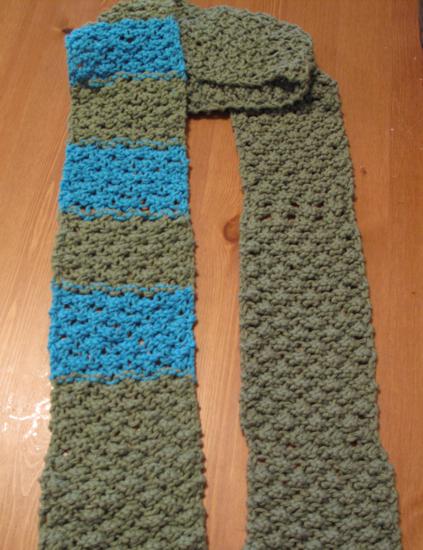 Raspberry Stitch Knit Hat Pattern : Unique Knit Cotton Scarf: Raspberry Stitch