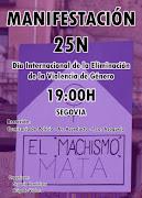 Manifestación Segovia 25N Dia internacional de la Erradicación de la violencia de Genero