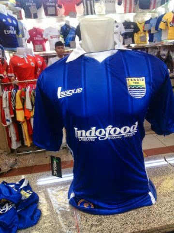 gambar jersey persib bandung home 2015 AFC cup kualitas grade ori made in thailand ready stock, indofood