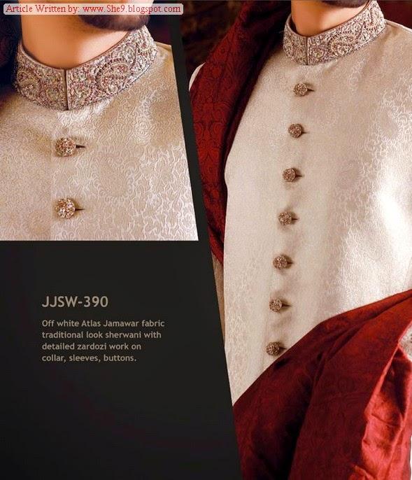 Junaid Jamshed Gents Sherwani Couture 2014
