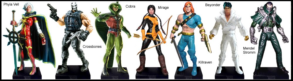 <b>Wave 17</b>: Phyla-Vell, Crossbones, Cobra, Mirage, Killraven, Beyonder and Mendel Stromm